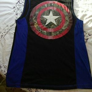 322588938 Marvel Shirts   Captain America Real Tree Camo Muscle Shirt   Poshmark